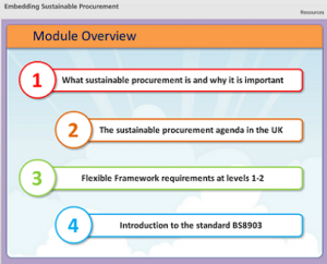 Embedding Sustainable Procurement Online Course