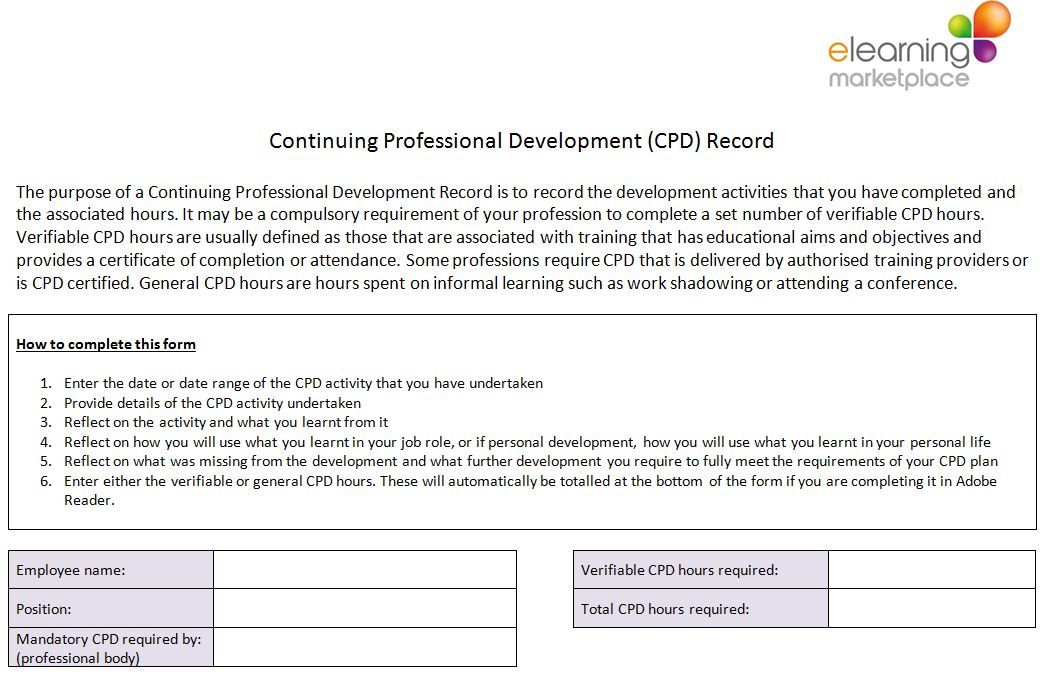 Free cpd resources free downloads elearning marketplace for Cpd certificate template
