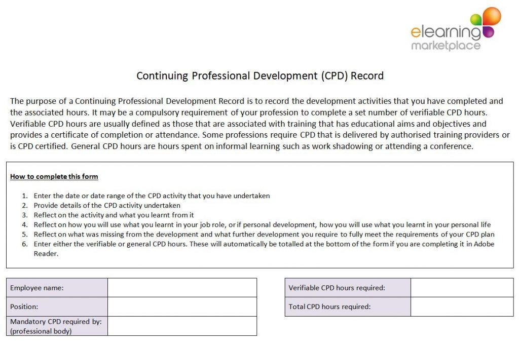 Continual Professional Development Record