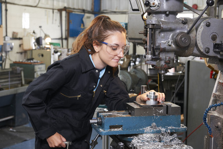 female apprentice engineer