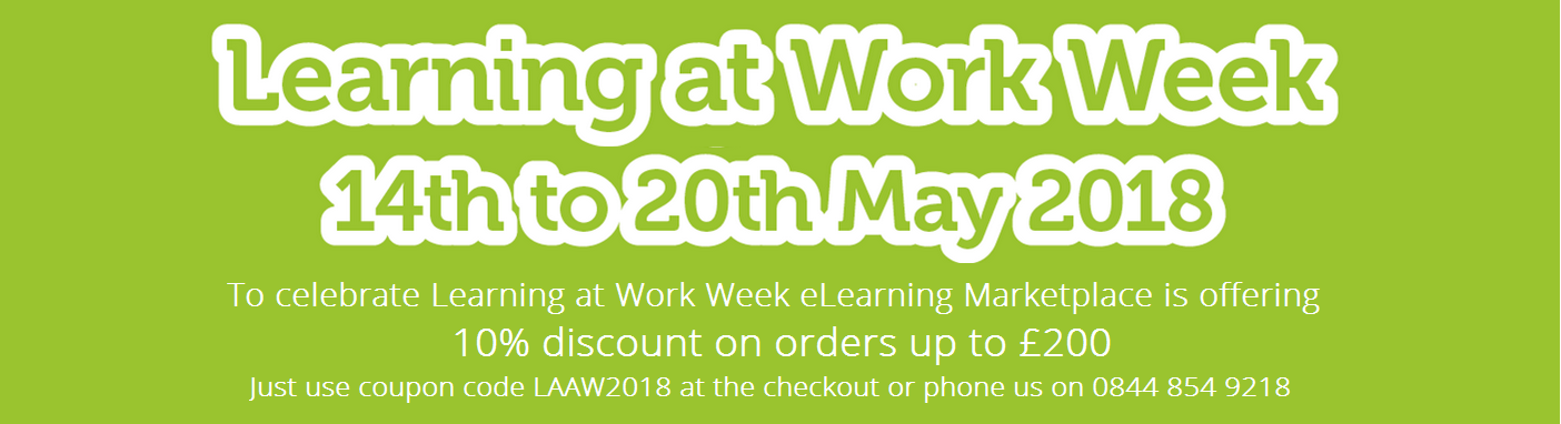 learning at work week 10% discount